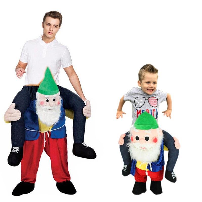 Nouveauté Santa Claus Costume Tour sur Me Mascotte Transporter Dos Fantaisie Costume Party Adultes Enfants De Noël Festival Vêtements Drôle Pantalon