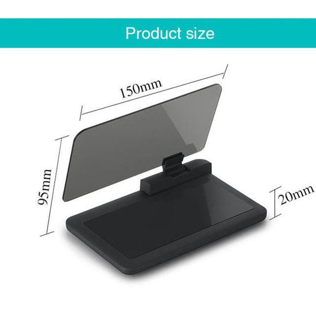 HD Reflexión Teléfono Inteligente de Navegación Soporte para Teléfono de 6 pulgadas y HUD Head Up Display Nuevo