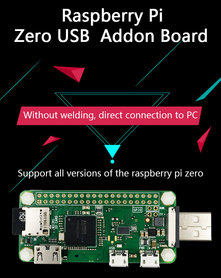 BadUSB Board Work With Raspberry Pi Zero Pi Zero W Pi Zero WH-in Demo Board Accessories from Computer & Office