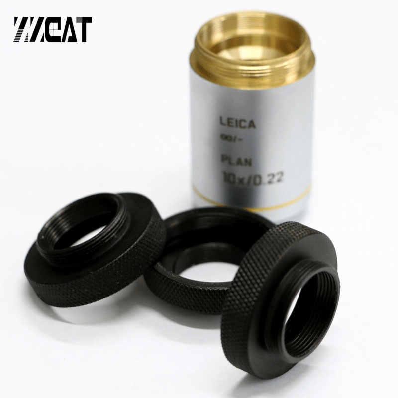 Anillo de objetivo de microscopio RMS a M25, adaptador de RMS a rosca M25 X 0,75 para objetivo de microscopio Leica Nikon Olympus