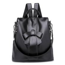 цены на 2019 Women Leather Backpacks Vintage Female Shoulder Bag Sac a Dos Travel Ladies Bagpack Mochilas School Bags For Girls Preppy  в интернет-магазинах