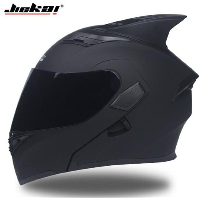 JIEKAI Motorcycle Helmet Men Moto Helmet With Sun Visor Inside Moto Equipment Double Lens Racing Cascos