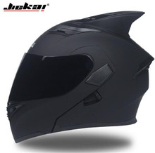 JIEKAI Motorcycle Helmet Men Moto With Sun Visor Inside Equipment Double Lens Racing Cascos Helmets DOT