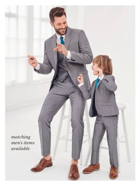 Newest Gray Father And Son Matching Suits 3 Pieces Best Man Suit Groomsman Attire Slim Fit