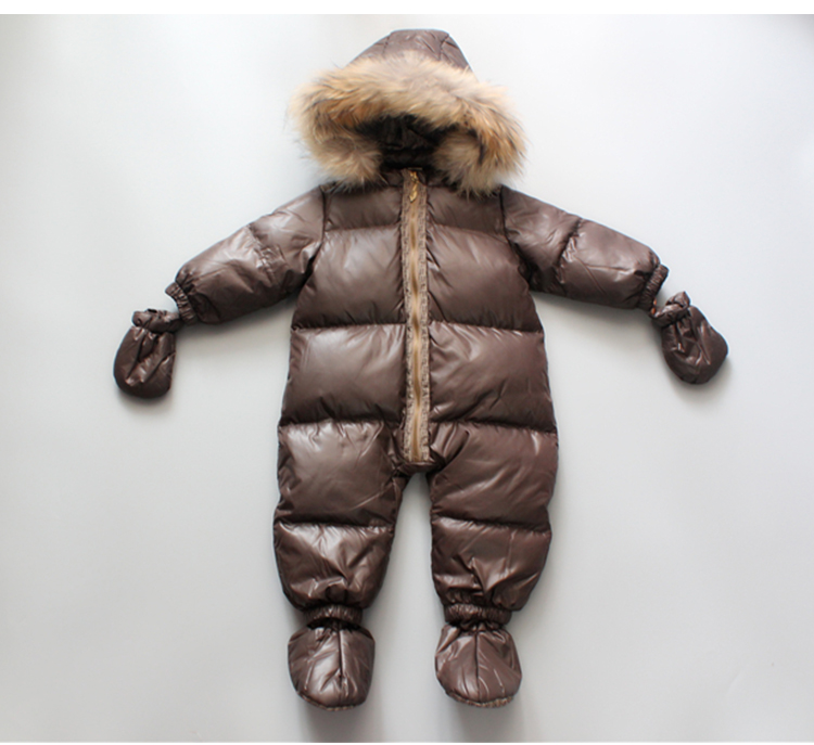 -30 Winter Snowsuit Baby 90% duck Down Romper Outdoor Infant Overcoat Clothes Girls Overall for Boys bebes Kids Jumpsuit 6-24M