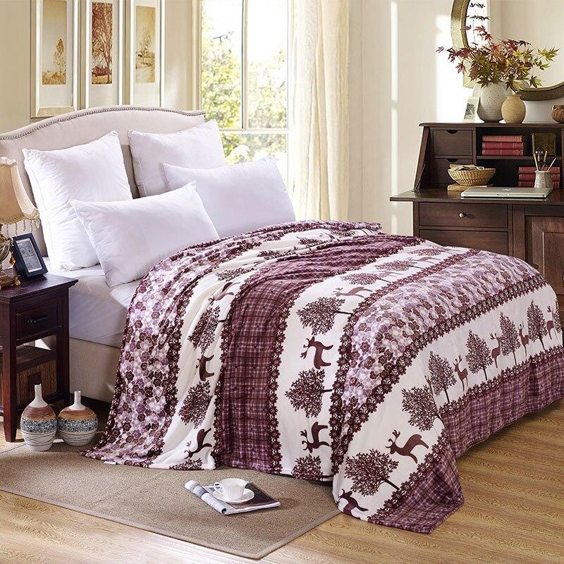 New Warm Blanket Soft Blanket On Bed Coral Fleece Warm