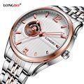 LONGBO Brand Fashion Brand Military Stainless Steel Date Calendar High Quality Waterproof Wristwatches Mens Watches 5010