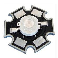 20 шт./лот 1 Вт УФ-ультрафиолетового 395nm свет Запчасти для детектора валюты с 20 мм звезды радиатора