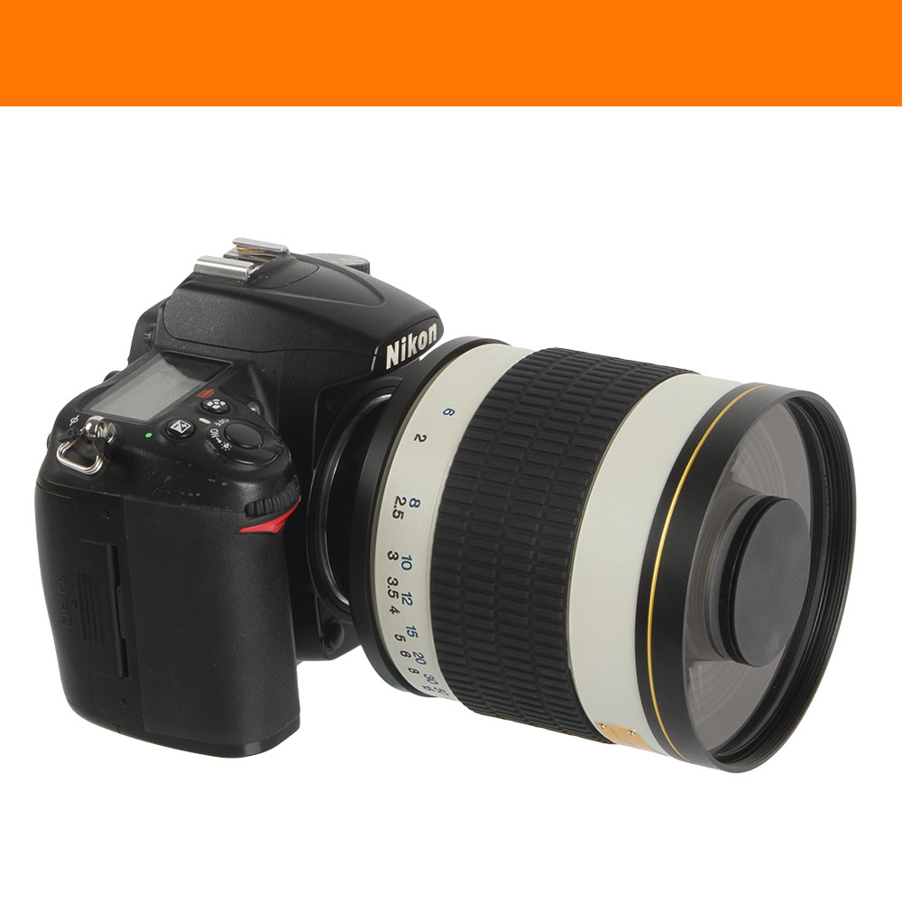 Lente espejo teleobjetivo F / 6.3 de 500 mm + anillo adaptador de - Cámara y foto - foto 5