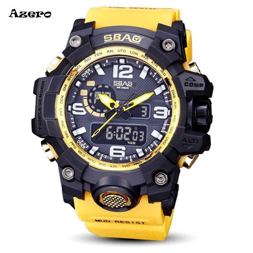 SBAO Watch LED Men Waterproof Sports Watches