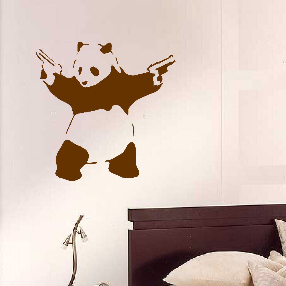 Aliexpress buy 2017 new style large kungfu panda with guns aliexpress buy 2017 new style large kungfu panda with guns art kids nursery bedroom wall mural stenciled wall sticker transfer vinyl decals from amipublicfo Image collections