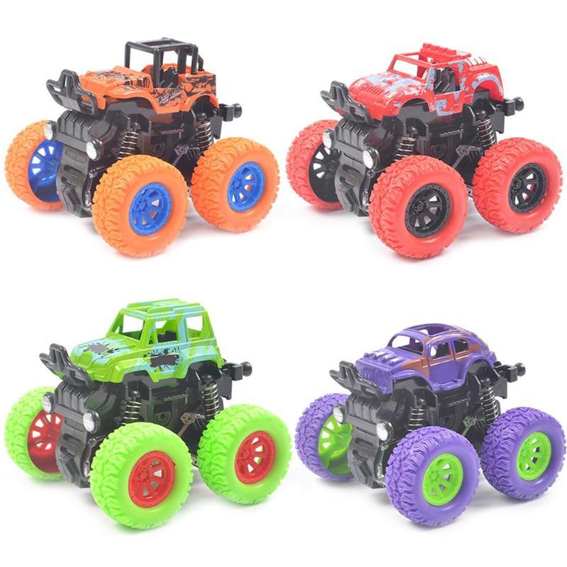 New Mini Inertial Off-Road Vehicle Four-Wheel-Drive Plastic Children Toy Car Stunt Car