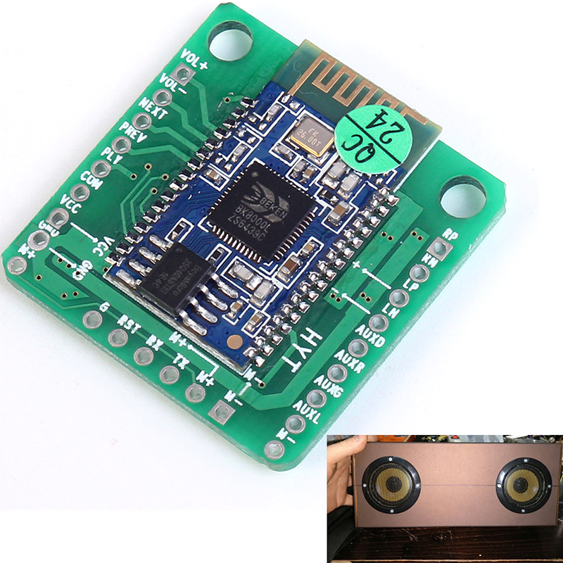 5V Wireless Bluetooth Module BK8000L Stereo Audio Receiver Digital Amplifier Board With Call Function 5W Bluetooth Audio Module