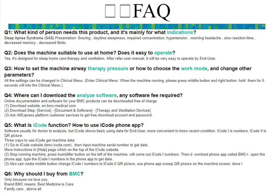 CPAP FAQ