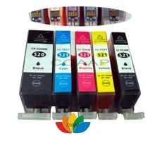 5 совместимый canon 520x521 чернильный картридж для принтера Canon принтерам PIXMA IP3600 IP4600 IP4700 MP540 MP550 MP560 MP640 MP620