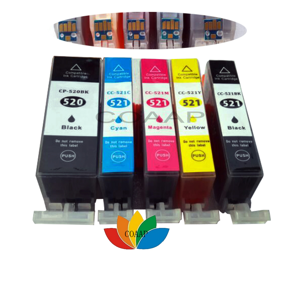 Canon 520 cartridge compatibility - 5 Compatible canon 520 x 521 ink cartridge for Canon PIXMA IP3600 IP4600 IP4700 MP540 MP550 MP560 MP640 MP620