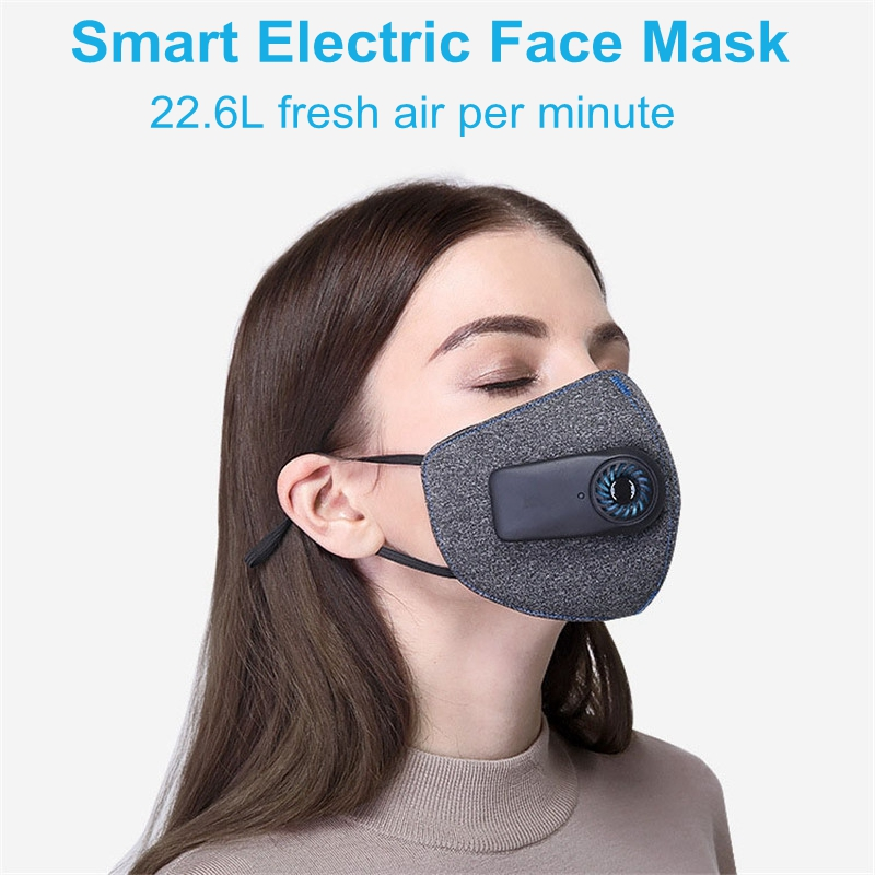 Smart Electric Face Dust Mask Air Purifying KN95 Anti Dust Pollution PM2.5 With Breathable Valve Workplace Safe Fresh Air SupplySmart Electric Face Dust Mask Air Purifying KN95 Anti Dust Pollution PM2.5 With Breathable Valve Workplace Safe Fresh Air Supply
