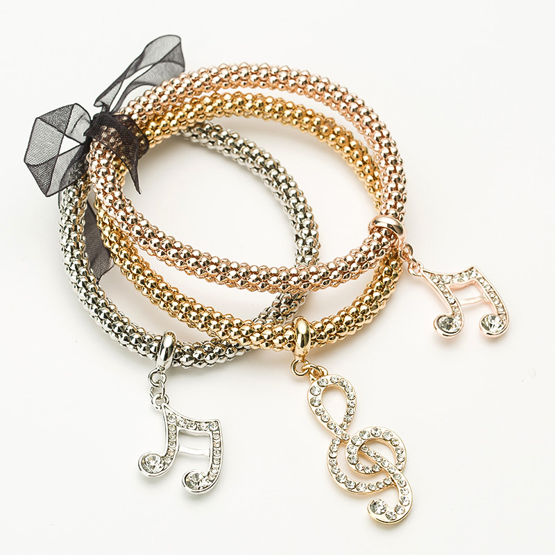 Strass charme armbänder & armreifen für frauen rose gold / silber - Modeschmuck - Foto 6
