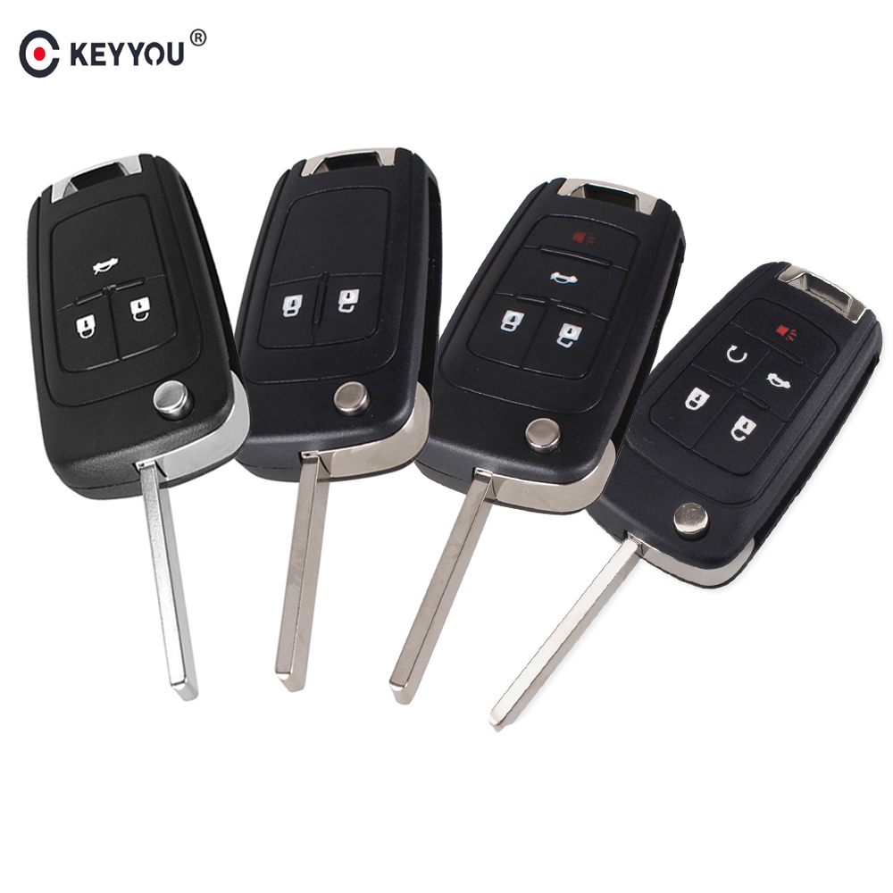 KEYYOU 2/3/4/5 Buttons Flip Folding Remote Key Shell For Chevrolet Cruze Lova Sail Aveo Key Case With HU100 Blade(China)