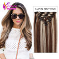 Full Lace Hair Extension Clip Ins 100% Remy Human Hair 8 Piece 100 120 Gram Clip In Human Blonde Hair Extensions Mixed Color