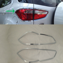 цена на Car Accessories Exterior Decoration ABS Chrome Rear Tail Light Lamp Cover Trims For Ford Ecosport 2013 Car-styling