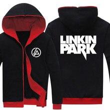 Прямая доставка весна осень Linkin Park печатных мода для мужчин's толстовки мужчин s куртка флисовые толстовки с капюшоном регулярные пальт
