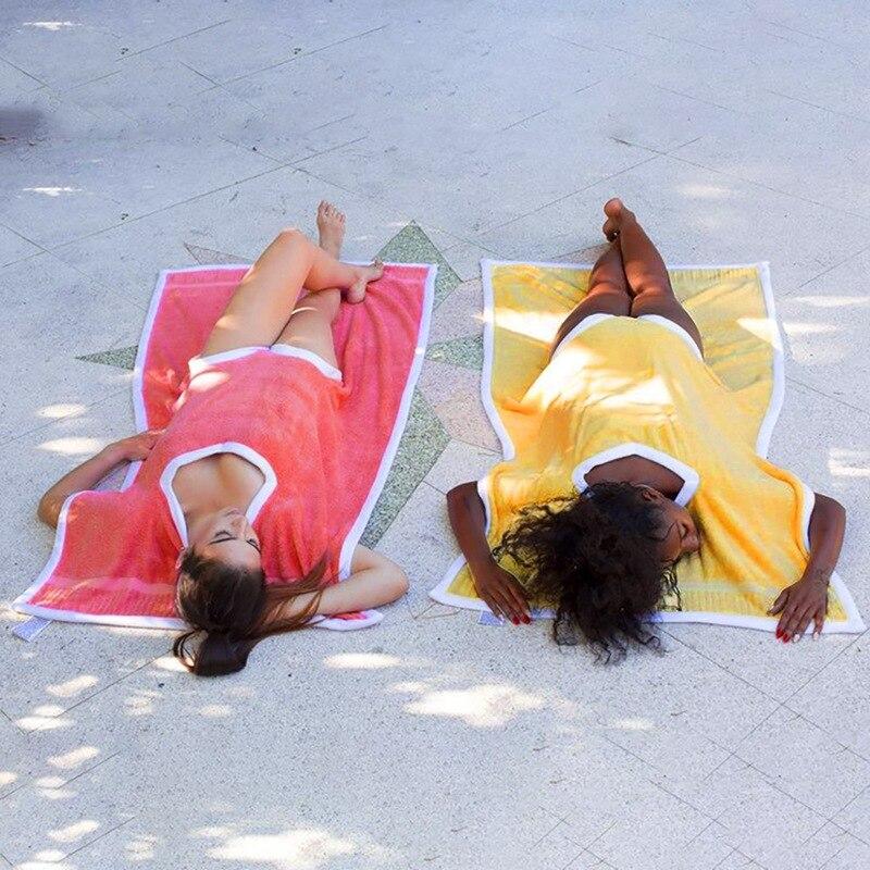 Femmes coupe-vent corps Wrap couvrir serviette de bain Spa plage jupe robe peignoir innovant serviettes de plage Towelkini