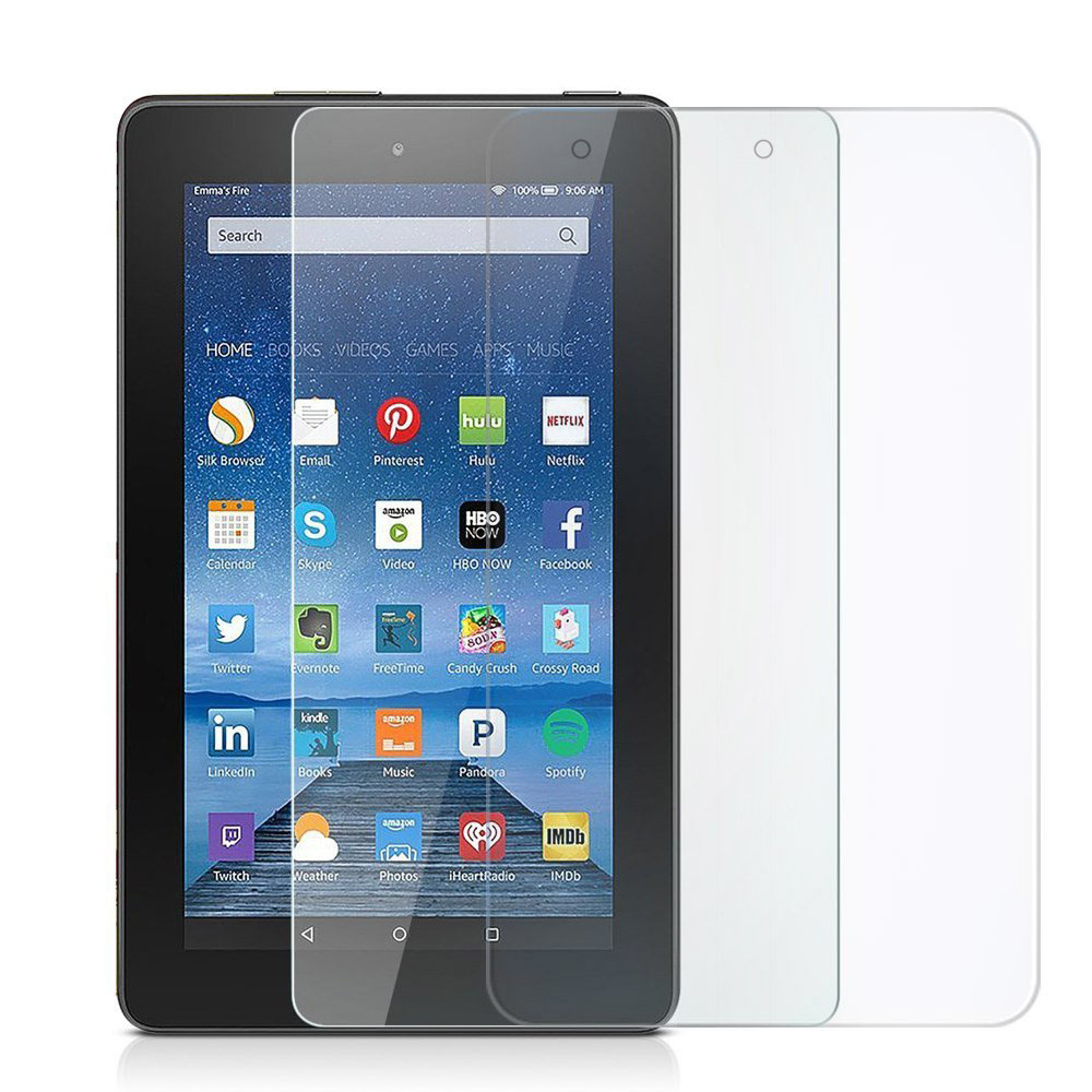 Full-Screen-Protector Tempered-Glass Fire-7 Amazon 9H 2PCS HD for Kindle Transparent