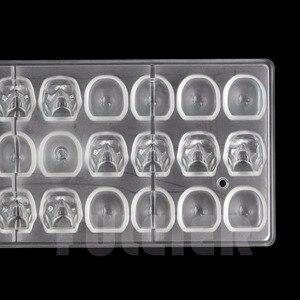 Image 3 - ליל כל הקדושים 3D גולגולת צורת פוליקרבונט שוקולד עובש DIY מטבח קונדיטוריה כלים עוגת קישוט אפיית סוכריות עובש