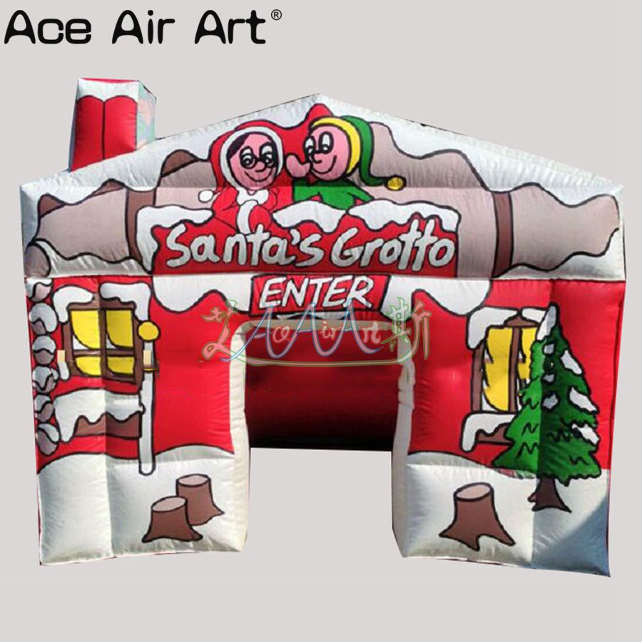 Best selling Christmas Inflatable Santa's Grotto tent