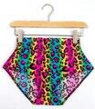 East knitting x-112 nuevo 2017 neon leopard striped shorts de cintura alta spandex verano sexy inferior