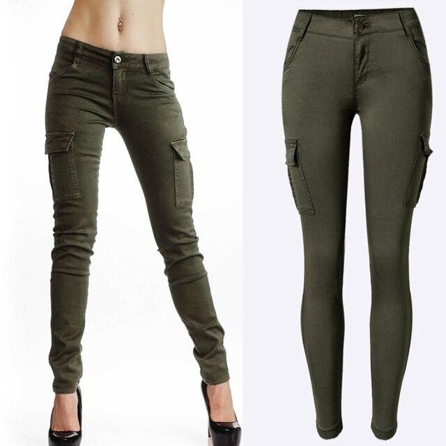 Femmes-chaudes-Sexy-Vert-Arm-e-Poches-Conception-Pantalon-jeans -Taille-Basse-Mince-Pantalons-Longs-Occasionnels.jpg 640x640.jpg 9619b8a6c91