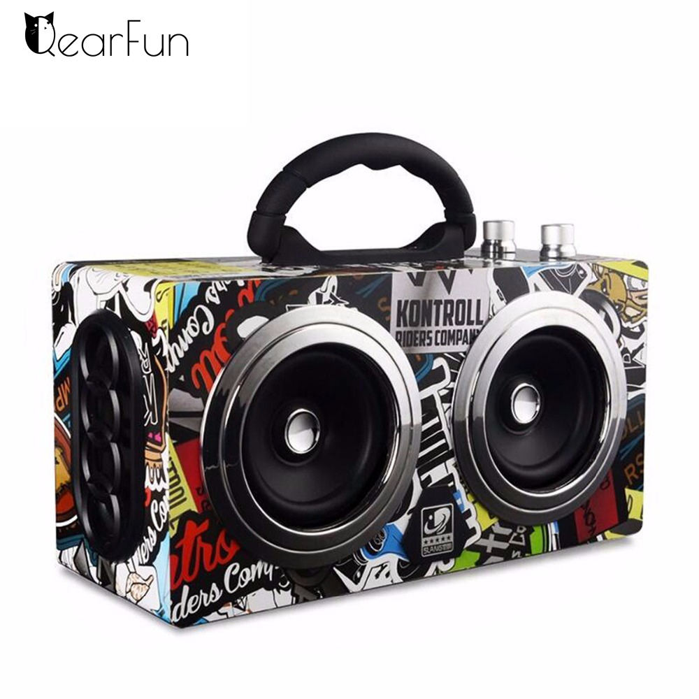 цены Portable Bluetooth Speaker Wireless Outdoor Stereo Bass Sound HiFi Loudspeaker 20W High Power Big Speaker with TF Card FM radio