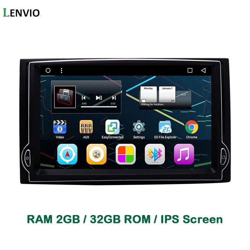 Lenvio IPS RAM 2 GB + 32 GB Quad Core Android 6.0 Navigazione DELL'AUTOMOBILE DVD GPS Player Per Hyundai H1 2007 2008 2009 2010 2011 2012 Radio