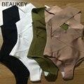Sólida Cruz Escavar Rayon de Alta Qualidade 2016 Nova Chegada de Uma Peça Sexy Bandagem Bodysuits