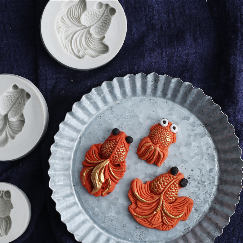 Goldfish Series Silicone Mold Fondant Mould Cake Decorating Tool Chocolate, Gumpaste Mold, Sugarcraft ,Kitchen Gadget