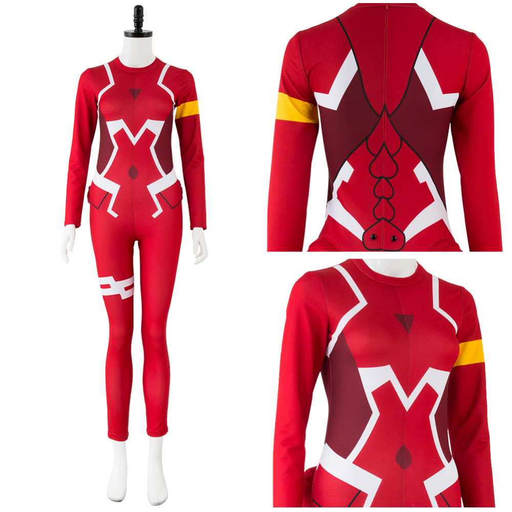 DARLING in the FRANXX Cosplay Costume Code 002 Zero Two Cosplay Costume Pilot Jumpsuit Outfit Women Halloween Carnival Costumes