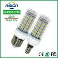 E27 Lâmpadas de Milho Luzes Led SMD5730 220 V 24 36 48 56 69 leds E14 Lâmpada Led de Milho Lâmpadas LED Candle Spotlight Iluminação Interior