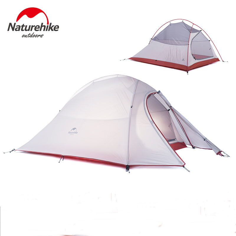 Naturehike Tent 1.24kg 2Person 20D Silicone Fabric Double-layer Camping Tent Ultralight Outdoor Tent Four-season Tent NH15T002-T outdoor camping hiking automatic camping tent 4person double layer family tent sun shelter gazebo beach tent awning tourist tent