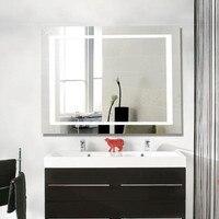 Современный яркий противотуманный 60*80 см светодио дный светодиодный свет зеркало с сенсорным выключателем для ванной комнаты отель водост
