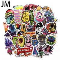 100PCS Color sticker waterproof skateboard computer graffiti sticker luggage suitcase bicycle refrigerator car