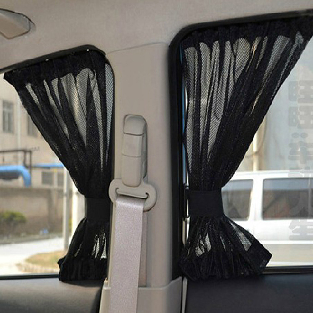 Car Sun Shade Black For Front Side Window 2Pcs Interior s