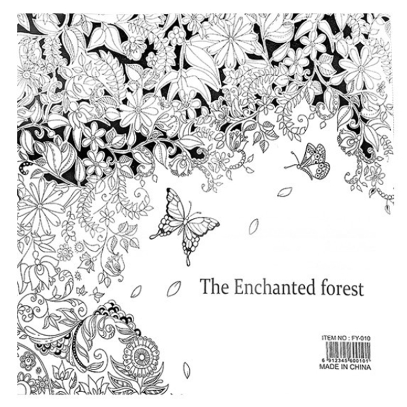The Enchanted Forest Book Coloring Books For Adults Kids Antistress Art Mandala Secret Garden Quiet Color Drawing 24Pages In From Office