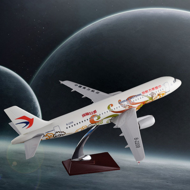 47cm Resin Airplane Model A320 China Eastern Airlines Diecast Aircraft Model Eastern Gansu Color Painted Airways A320 Model Toys