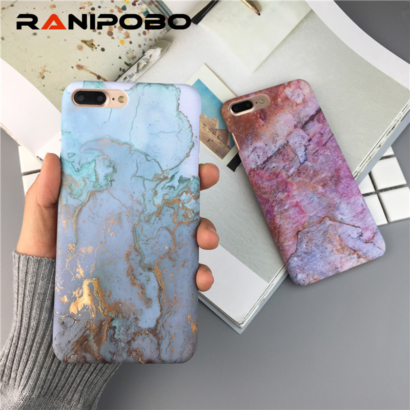 3D Artistic Marble Pattern Phone Case For iPhone 6 6S 7 Plus Ultra Slim Hard PC Cover Cases For iPhone 8 Plus