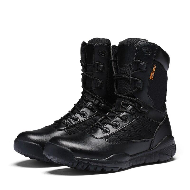09902ee2940 Botas de invierno para hombre de gran venta 2018 botas de seguimiento  cómodas para hombre botas negras de goma para hombre botas de trabajo altas  para ...
