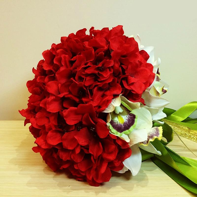 Romantic Wedding Flower Decoration DIY Handcraft Red Roses