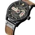 2018 luxus Marke CURREN Männer Military Sport Uhren herren Quarz Datum Uhr Mann Casual Leder Armbanduhr Relogio Masculino-in Quarz-Uhren aus Uhren bei