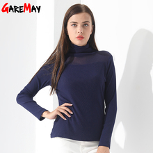 Plus size Blouse For Women Pullovers Winter Long Sleeve Causal Slim Feminine fashion Women Clothing Cashmere Turtleneck Garemay(China)