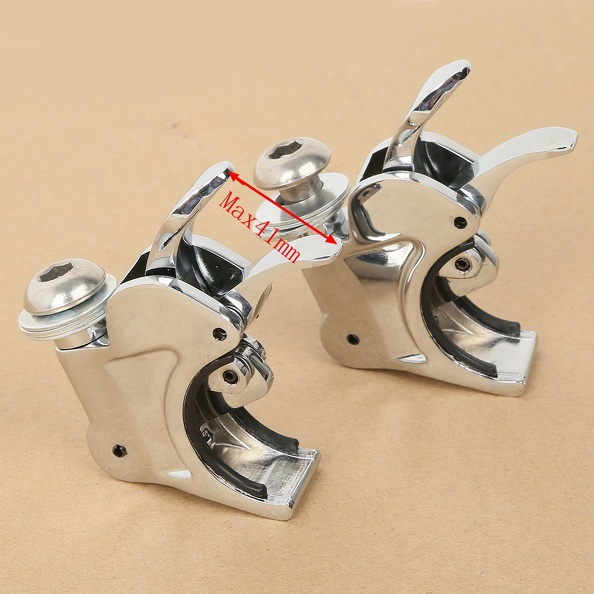Chrome 41mm Windshield Windscreen Clamps For Harley Sportster XL 883 1200 Dyna Super Glide FXDWG Softail FXST Night Train for motorcycle harley softail fxdwg dyna wide glide flhr flt chrome skull shift linkage
